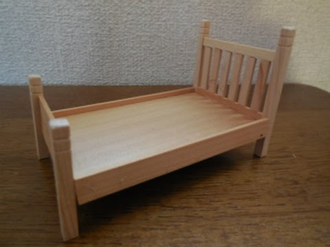 Dollhouse furniture how to make a country bed youtube