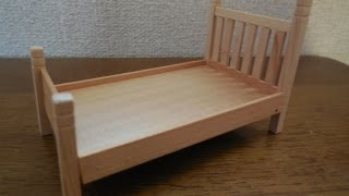 ドールハウス家具 カントリーベッドの作り方Dollhouse furniture   How to make a country bed