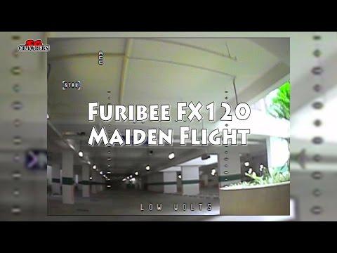Furibee FX120 Maiden flight car park test flight
