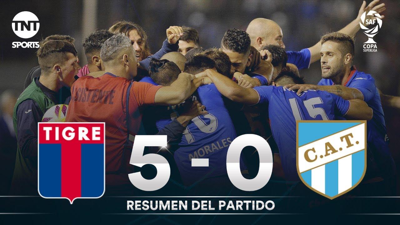 Resumen de Tigre vs Atlético Tucumán (5-0) | Semifinal (ida) - Copa Superliga 2019