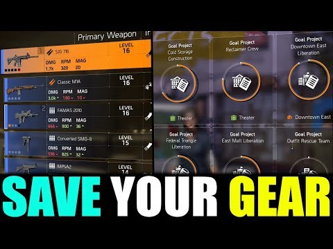The Division 2 - WHY YOU NEED TO SAVE ALL YOUR GEAR & NEW CLAN IS LIVE!!