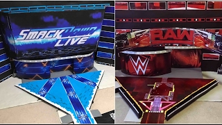 WWE Raw and Smackdown Live New Era Figure Stages! (2017)