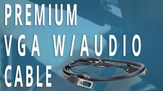 Easy To Use VGA Cable - Includes Audio Channel!