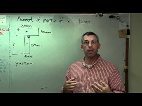 Moment of Inertia of a T Beam - Brain Waves.avi