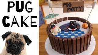 PUG SWIMMING POOL CAKE