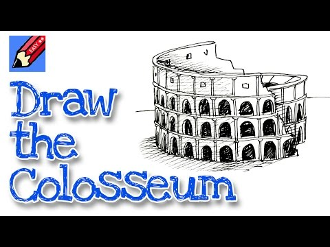 How To Draw The Colosseum Real Easy For Kids And Beginners ржачные
