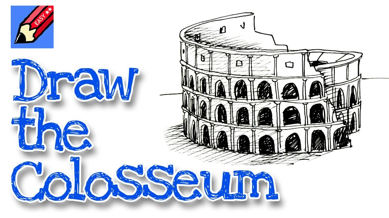 How To Draw The Colosseum Real Easy For Kids And Beginners YouTube - 8 fun activities for kids in rome