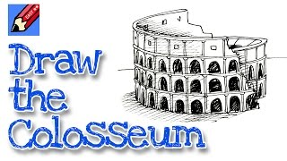How to draw the  Colosseum Real Easy for kids and beginners