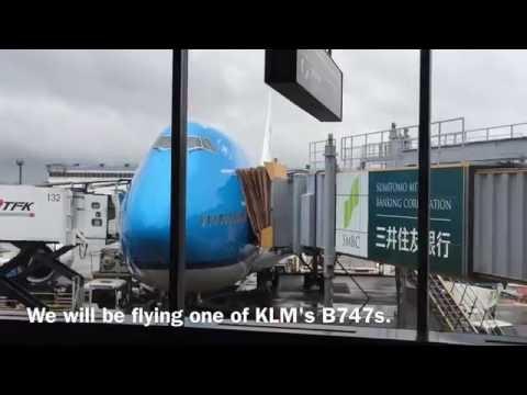 KLM Flight KL0863 Tokyo Narita to Amsterdam Schiphol Airport in Economy Comfort