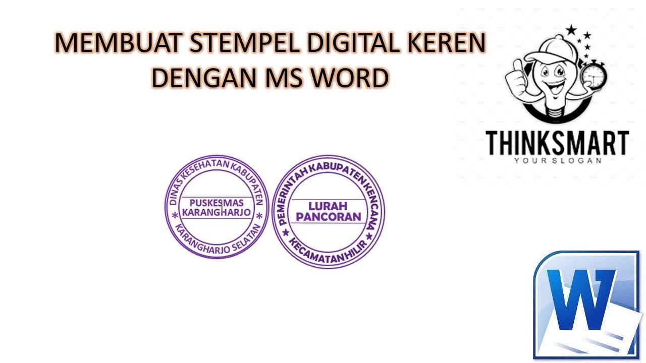 Detailcara Mudah Buat Stempel Digital Di Ms Word