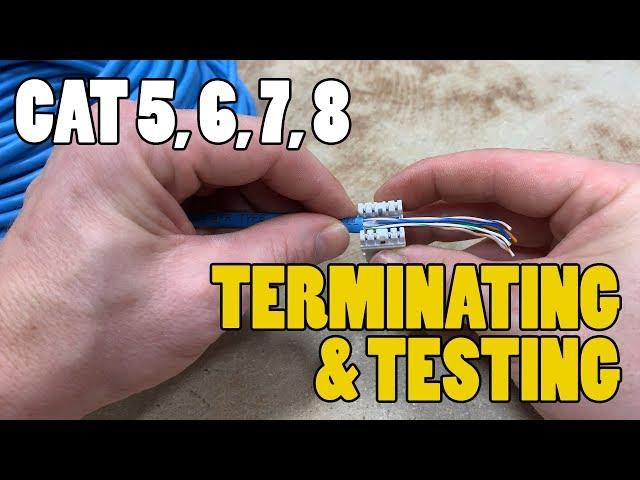 Terminating/Testing Network Cables - CAT 3, CAT5, CAT6, CAT 7, CAT 8