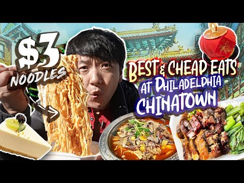 Philadelphia CHINATOWN Cheap Eats | $3 NOODLES & STINKY TOFU!