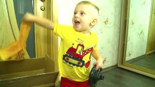 Funny Baby Unboxing And Assembling The POWER Wheel Ride On New Tractor Excavator