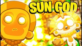 Bloons Tower Defense 5 (BTD 5) - Sun God Tower on *NEW* Map