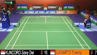SF - MS - Sony Dwi KUNCORO vs Tommy SUGIARTO - 2013 Hong Kong Open
