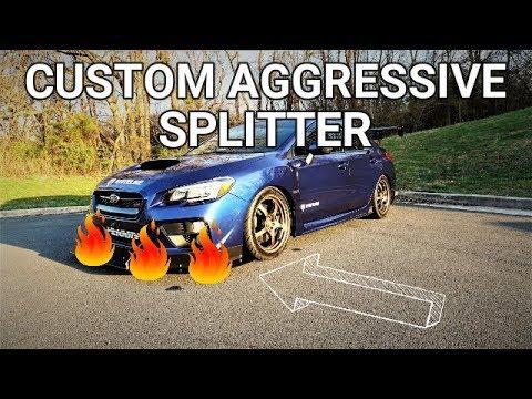 Custom Aggressive Splitter | 2017 Subaru WRX STI