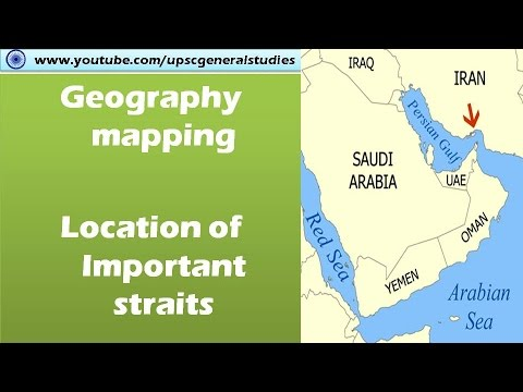Geography mapping: Location of important straits (Google maps)