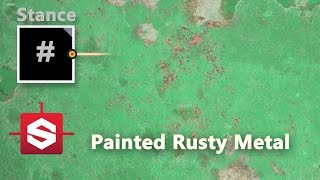 Painted Rusty Metal - Substance Designer Material Breakdown