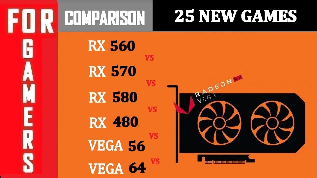 Rx 560 Vs 570 Vs 580 Vs 480 Vs Vega 56 Vs Vega 64 Comparison Youtube