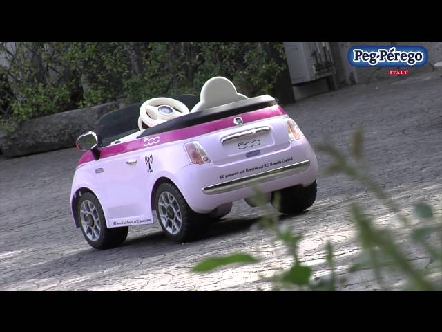 Fiat 500 Remote Control Red / Pink - Peg Perego