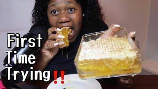 ASMR Eating Raw Honeycomb *EXTREMELY STICKY*