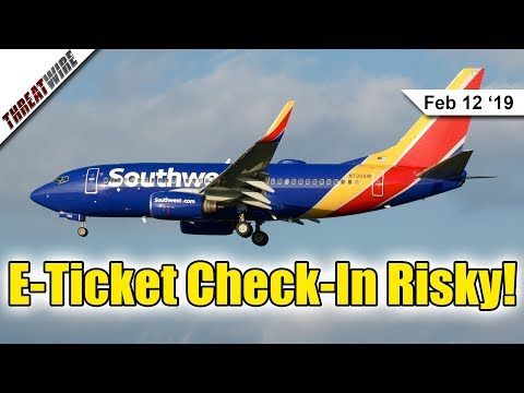 Airlines Don't Encrypt Your Passenger Data for E-Tickets - ThreatWire