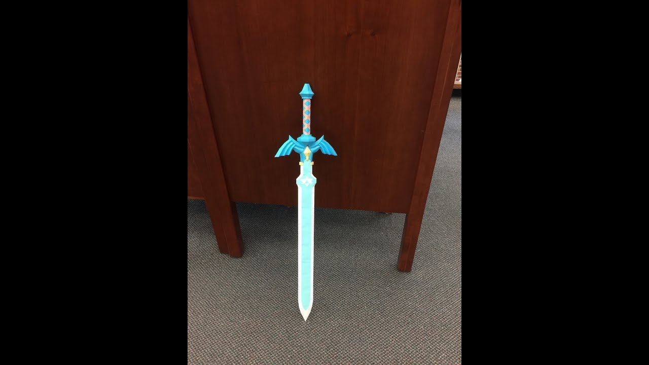 Zelda Breath Of The Wild Papercraft Master Sword