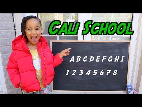 Pretend School with Teacher Cali   FamousTubeKIDS