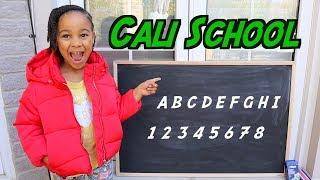 Pretend School with Teacher Cali | FamousTubeKIDS
