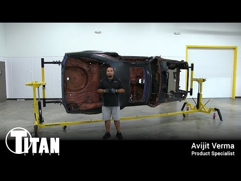Titan 4500 Auto Body Restoration Rotisserie with Adapters