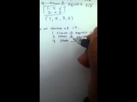 Elementary School: Factoring and Listing - Part 2