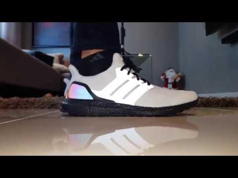 ba2f0254a Xeno Ultra Boost White Mi Adidas on Feet in 4k! - YouTube
