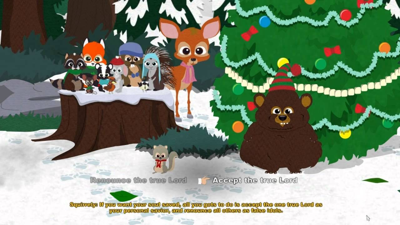 South Park Woodland Critter Christmas.Woodland Critter Christmas Secret Area South Park The Stick Of Truth