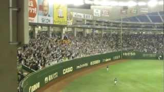 2012.4.26 2000本安打にあと2本と迫った日本ハム・稲葉選手の東京ドーム...