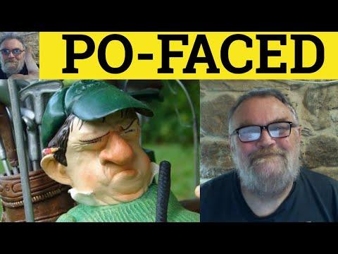 Po-Faced - Slang - ESL British English Pronunciation