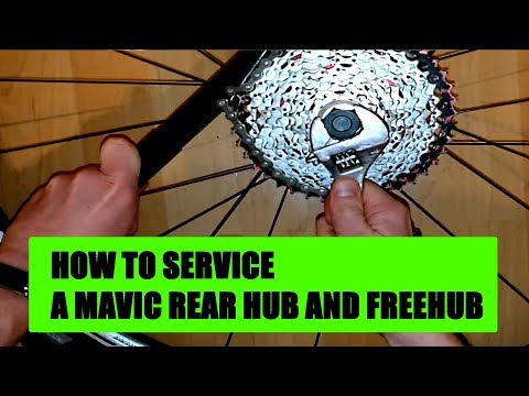 Mavic rear hub and freehub crossone crossride crossmax How to service