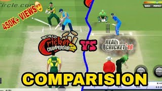 Wcc2 vs Real cricket 18 (comparision) || TECH WIDFRNDZ