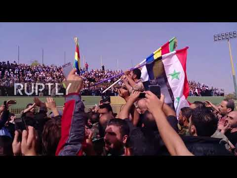 Syria: Funeral for Syrian general killed in action held in al-Swedaa