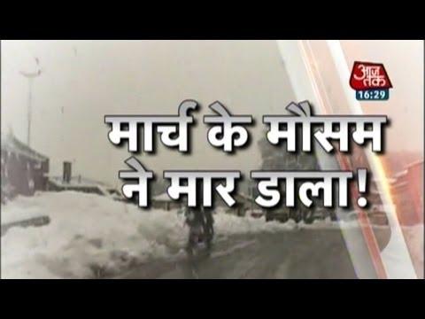 Unbearable snowfall in Kashmir