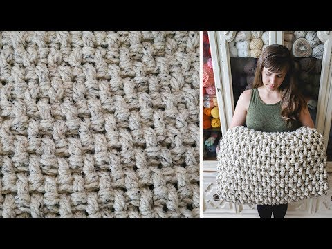 Crochet Mini Basket Weave Stitch Tutorial