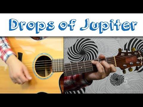 Drops of Jupiter - Train | Easy Guitar Tutorial, Simple Chords and Strumming