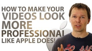 How To Make Your Videos Look More Professional - Like Apple Does!(http://RapidVideoBlogging.com Ever wonder how Apple create those amazing videos for their products? Those videos where they have that nice white as snow ..., 2011-03-25T13:14:06.000Z)