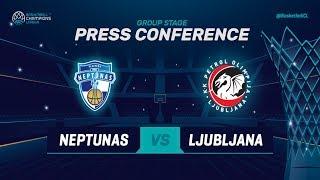 Neptunas Klaipeda v Petrol Olimpija - Press Conf - Basketball Champions League 2018-19