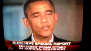 President Obama Speaks in Aurora, Colorado