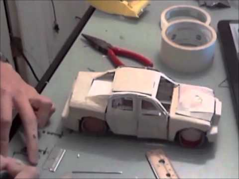 Papercraft Building a Model Car Made of Paper (Time Lapse)