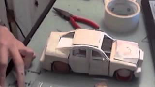 Building a Model Car Made of Paper (Time Lapse)