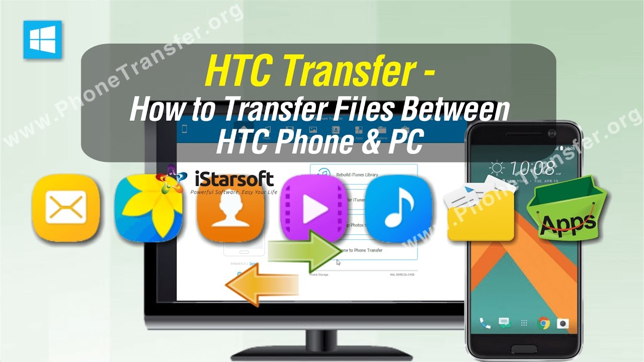 how to download pics from htc phone to computer