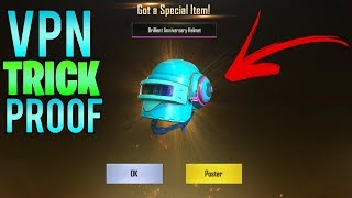 HOW I GOT LEGENDARY GUN HELMET SKINS IN PUBG CRATES USING A VPN IN PUBG MOBILE WITH PROOF