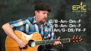 Learn finger style Elton John Your Song pt2 arranged for acoustic guitar lesson with chords patterns