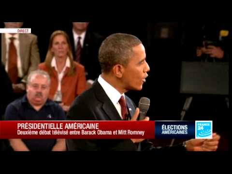 17/10/2012 DEBAT USA OBAMA ROMNEY